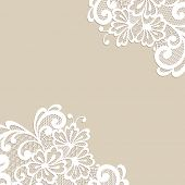foto of lace  - White flower corner - JPG