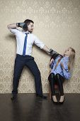 picture of disobedient  - man and woman working together in the office - JPG