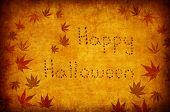 Happy Halloween Written By Autumn Leaves