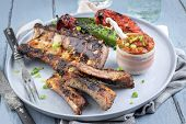 foto of ribs  - Spare Ribs on Plate - JPG
