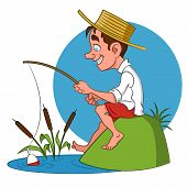 image of caricatures  - fisherman - JPG