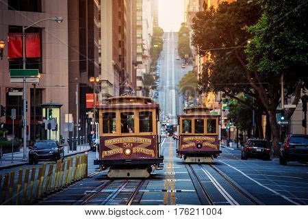 San Francisco Cable Cars On