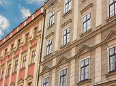 Facade Of Buildings In Czech Republic
