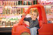 Child  In Supermarket