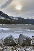 Lake Derwent Water In Winter