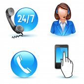Kundendienst - Telefon, Call-Center, mobile icons