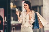 Beautiful Girl Going Shopping poster