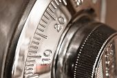 combination lock closeup