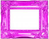 pink retro frame on white background