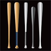 multiple baseball bats