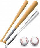 Baseball bats and balls