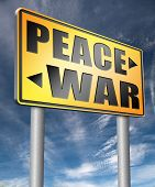 make love not war fight for peace stop conflict and say no to terrorism  3D illustration poster