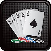 escalera real jugando a las cartas en botón web