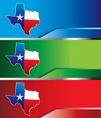 Lonestar state on colored banners