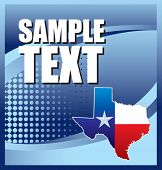 lonestar state icon on blue halftone banner