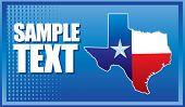 texas icon on interesting halftone background