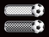 soccer ball on diamond checkered banners