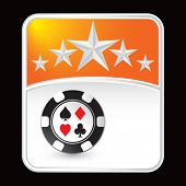 casino chip on superstar background
