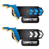 forma de estado de Florida no banner de seta