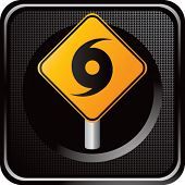 hurricane sign on web icon