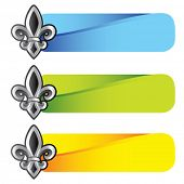 fleur de lis symbol on colored tabs