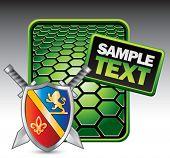 royal shield and sword web template