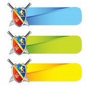 royal shield with crests on web banners