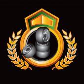 stacked tires golden crest