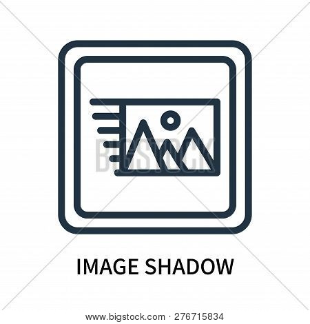 poster of Image Shadow Icon Isolated On White Background. Image Shadow Icon Simple Sign. Image Shadow Icon Tre