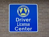 Driver License Center sign