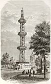 Three floors tower overlying Grenelle artesian well, Paris (demolished in 1903 and replaced by Paste