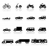 Icons set coches