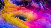 Elegance Of Colorful Paint poster
