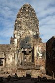 Old Prang In Phra Prang Sam Yot, Lop Buri, Thailand