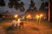 Romantic Private Dinner at Luxurious Resort