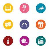 Dramatically Icons Set. Flat Set Of 9 Dramatically Icons For Web Isolated On White Background poster