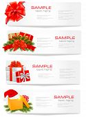 image of happy holidays  - Set of winter christmas banners - JPG