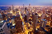 Luchtfoto van Chicago downtown