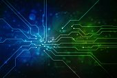 Digital Abstract Technology Background, Circuit Board Lines Background, Futuristic Background, Cyber poster
