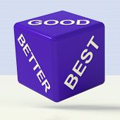 Good Better Best Dice Representing Ratings And Improvement