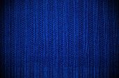 Texture Fabric Of Dark Blue Color. Horizontal
