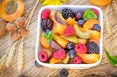 Delicious Healthy Fruit Salad, Fruit Salad Prepared With Fresh Organic Fruit poster