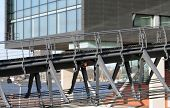 pic of ijs  - Footbridge to Music Building at the IJ in Amsterdam Holland - JPG