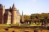 Castle 'De Haar' and the garden in the Netherlands