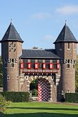 Two towers from castle 'De Haar' in the Netherlands