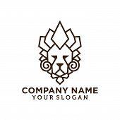 Monogram Lion Logo. Lion Head Vector. Lion Head Logo. Lion Icon. Lion King. Animal Logo. Vector Logo poster