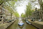 Cruising through Amsterdam in the Netherlands