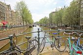 Amsterdam city and everywhere bikes in the Netherlands