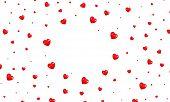 Valentine Hearts Background. Shiny Flying Red Hearts. Valentines Day Background poster