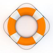 Orange Lifebelt With Rope From Top